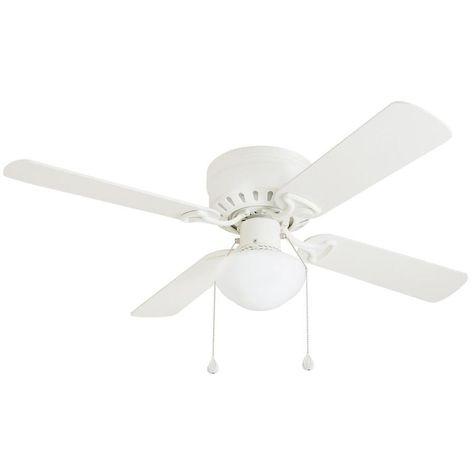 Harbor Breeze Builders Series 42 White Finish Ceiling Fan