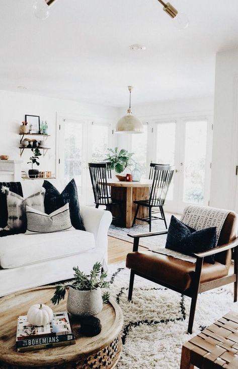 43 MODERN FARMHOUSE STYLE DECOR IDEAS FOR YOUR LIVING ROOM - nicolette news