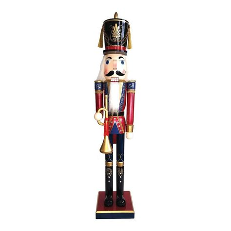 Santa's Workshop 60 in. Royal Bugler Nutcracker with Bugle