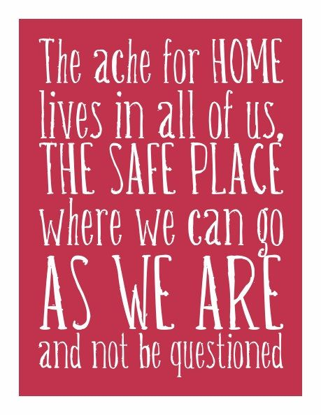 You are home.