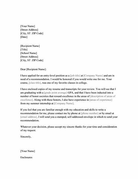 Recommendation Letter  Letter Samples    Letter Sample