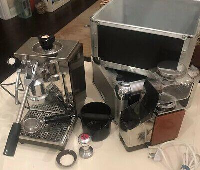 Olympia Cremina Manual Lever Espresso Machine 67 Stainless Brown W Grinder Espresso Machine Automatic Espresso Machine Espresso