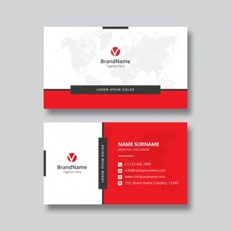 Business Card Template Design Graphic Design Business Card Business Card Template Design Red Business Cards