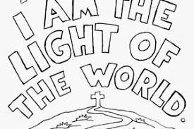 Image Result For Jesus Is The Light Of The World Coloring Pages Light Of The World Bible Coloring Coloring Pages
