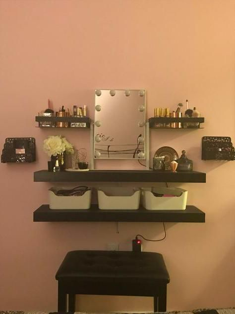 Floating Shelves In 2020 Floating Shelves Shelves Makeup Organization Diy
