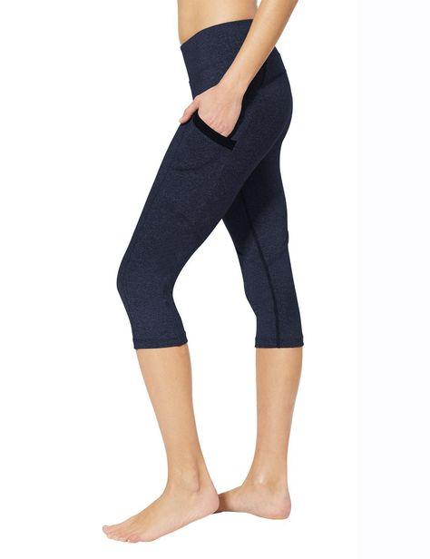 aacb5686feed9 Amazon.com: Baleaf Women's Yoga Workout Capris Leggings Side Pocket for  5.5