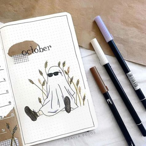 50+ inspirations to create a cozy fall theme in your Bullet Journal. Stunning pages created with kraft paper to bring that extra Fall feel to your pages. Cover pages, weekly spreads, habit trackers, and more amazing inspirations for your Fall Bullet Journal setup. #mashaplans #bulletjournal #bujoinspo #bujo #fallbujo