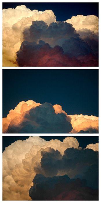 Die Wolken erinnern mich an die Bilder von Deiner Mama, die Du im Flur hast :)