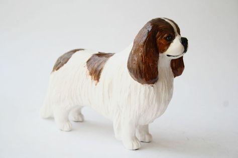 CAVALIER KING CHARLES SPANIEL DOGS LARGE HAND//GUEST TOWEL TRI BLENHEIM ART PRINT