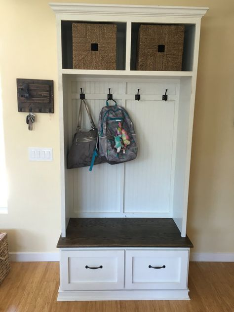 Entryway Bench With Shoe Storage And Coat Rack Compliments A Foyer