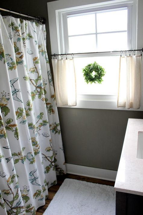 I Have A Window Just Like This In My Master Bath These Curtains Look Perfect For Privacy And Style Pottery Barn Ideas Home Pinterest