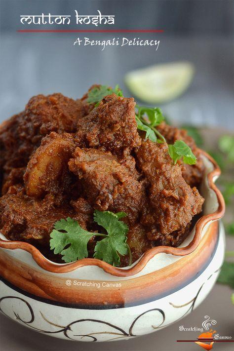 Bengali Kosha Mangsho Mutton Kosha Spicy Mutton Dry Curry Mutton Recipes Recipes Lamb Recipes