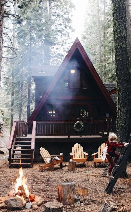 Pin By Tim Rosa On Mountain Cabin House In The Woods Happy House Cabin Life