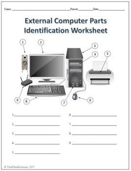 Computer Parts Labeling Activity 6 Worksheets Computer