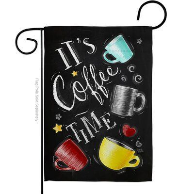 Breeze Decor Its Coffer Time Impressions Decorative 2 Sided Polyester 19 X 13 In Garden Flag Breeze Decor House Flags Decor