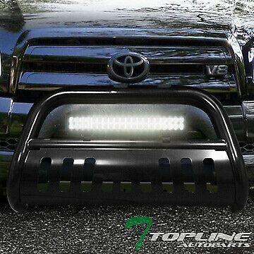 Ebay Sponsored Topline For 2000 2001 Tundra Sequoia Black Bull Guard W 120w Cree Led Light Bar Cree Led Light Bar Bull Bar Toyota Tundra