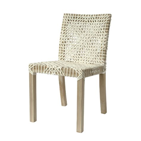 Sweni Dining Chair Natural White Uniqwa Leather