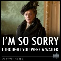 The Dowager Countess. @Lauren Palmore