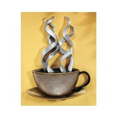 Coffee Cup Wall Art Decor Java Mug Kitchen Large 3d Plaque Sculpture Hanging New Coffee Decor Kitchen Coffee Cup Wall Art Coffee Theme Kitchen