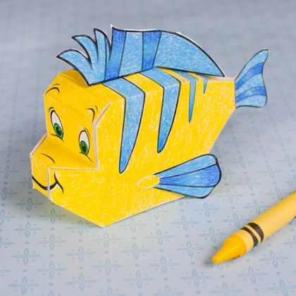 Flounder 3D Papercraft #littlemermaid