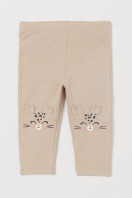 Legginsy Z Meszkiem Wewnatrz Jasnobezowy Lampart Dziecko H M Pl Baby Girl Pants Leggings Fashion Company