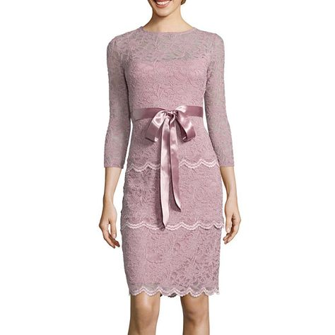 f3ece9c947 Blu Sage 3 4-Sleeve Tiered Lace Sheath Dress - JCPenney