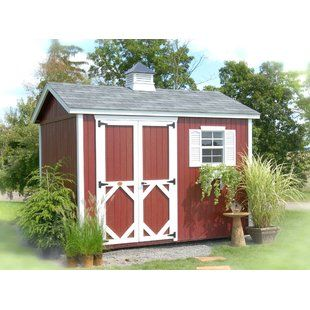 Little Cottage Company Colonial Pinehurst Wooden Storage Shed Wayfair Garden Shed Kits Wood Storage Sheds Storage Shed Kits