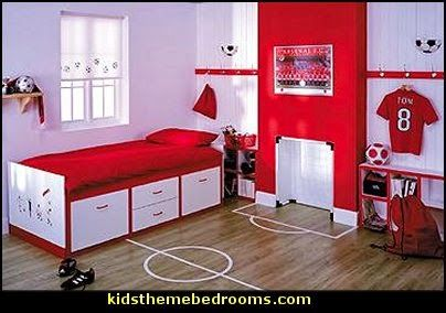 Soccer Theme Bedrooms Football Theme Bedrooms All Sports Theme Bedrooms |  Sports | Pinterest | Football Theme Bedroom, Theme Bedrooms And Bedrooms