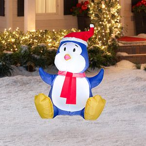 3.5' Tall Airblown Penguin Christmas Inflatable