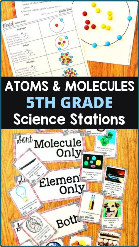 Atoms & Molecules 5th Grade Science Stations