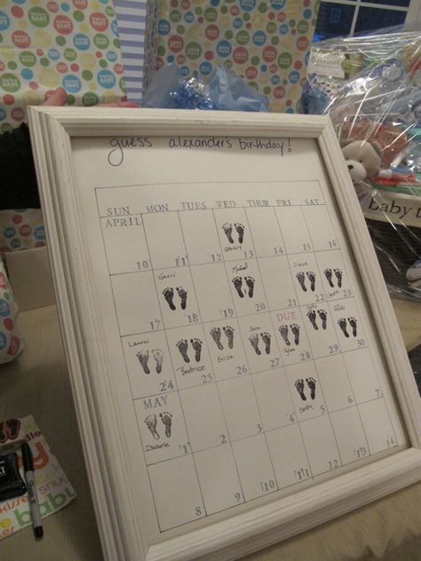 Baby shower idea--guest predictions.