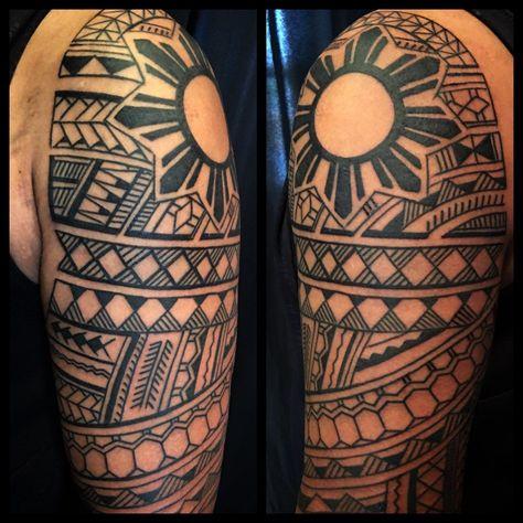 Filipino Tattoo design and tattooing by Samuel Shaw on the island of Kauai, Hawaii.