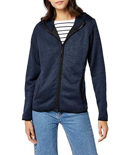 James /& Nicholson Womens Kapuzenjacke Ladies Knitted Fleece Sweatshirt Hooded Jacket