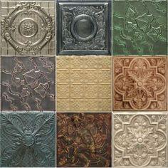 Tin Tiles Custom 5 Pack Of Artisan Finishes Avec Images