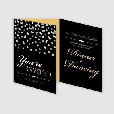 Ghoulish Gala Halloween Invitation, Square Corners, Black - invitation card event