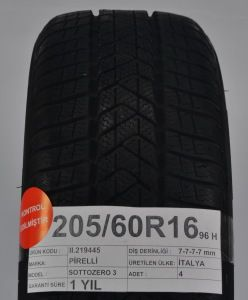 Pirelli 205 60r16 96h 7 7 7 7 Mm Italya