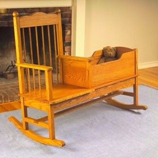 Wooden Bassinet Cradle Foter, Rocking Chair Cradle Combo Plans