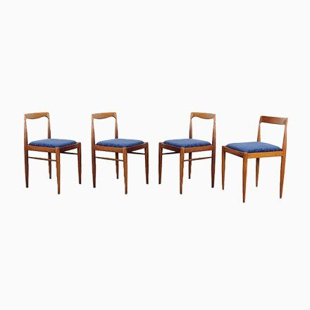 Mid Century Dining Chairs By Knud Faerch Set Of 8 In 2020 With