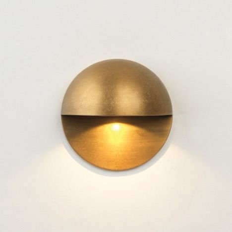 Round Brass Wall Light Bathroom Or Outdoors Brass Wall Light Led Outdoor Wall Lights Wall Lights