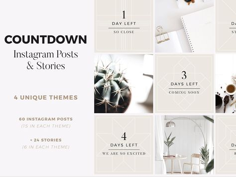 Countdown Instagram Posts + Stories