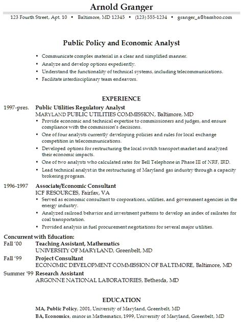 sample resume objective statement job resumes administration - public policy resume