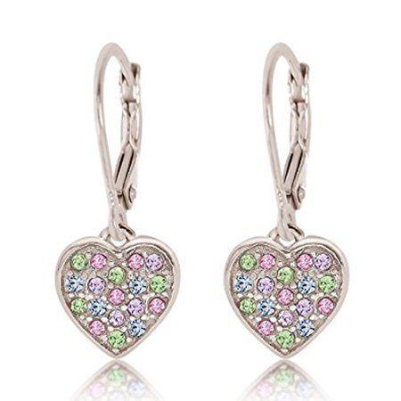 Children/'s Silver Purple Flower Ear Studs — AUS Postage — Jewellery Sterling 925