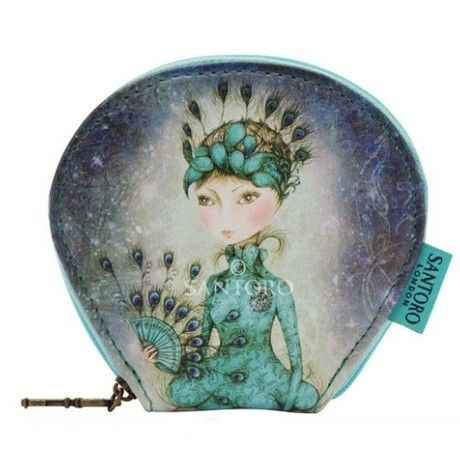 Miss Peacock Curved Flat Purse By Mirabelle