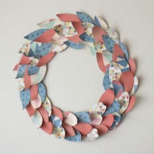 Foliage Paper Wreath Tutorial at Scrapbuck.com.  All you need is paper, cardboard and a hot glue gun!  Super Affordable!