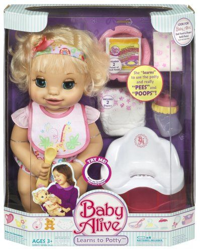 Amazon Com Baby Alive Learns To Potty Discontinued By Manufacturer Toys Games Baby Alive Dolls Baby Doll Nursery Baby Alive
