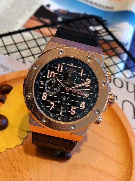 BIG DIAL QUARTZ DOUBLE SIDED BUCKLE WATERPROOF  WATCHES