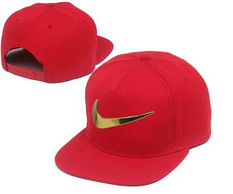 Men s Nike Heritage Dri-FIT Jumbo Nike Gold Metal Logo Front A-Frame  Baseball Snapback Hat - Red 5c0d2144b28
