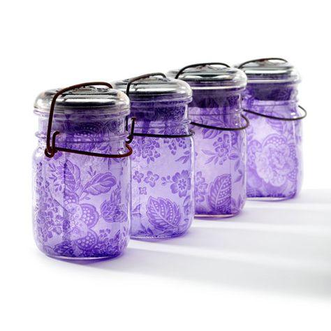 Purple jars found on Etsy