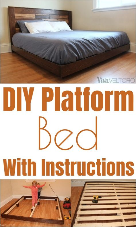 Diy Bed Frame Ideas For Your Home Platform Bed With Storage Diy