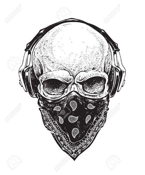 Swag Skull Tatouage Musique Tête De Mort Et Idées De